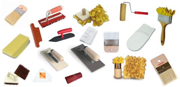 Набор инструментов для оштукатуривания и текстурирования