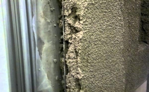 Наглядный вид послойного размещения материалов при штукатурных работах