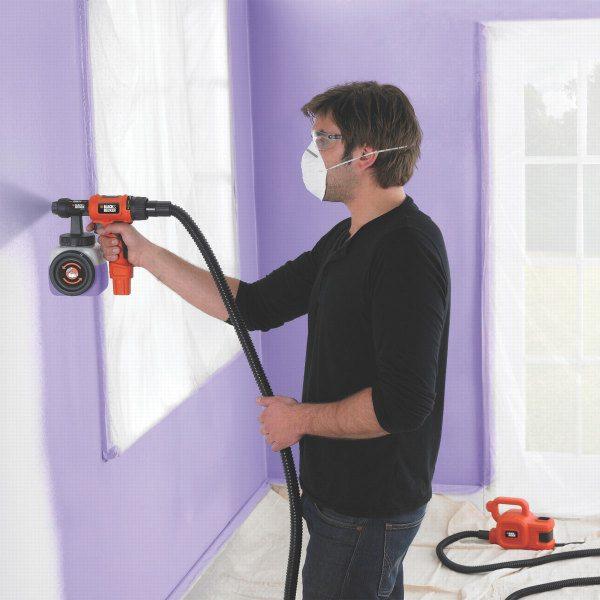 Нанесение краски под прямым углом к стене