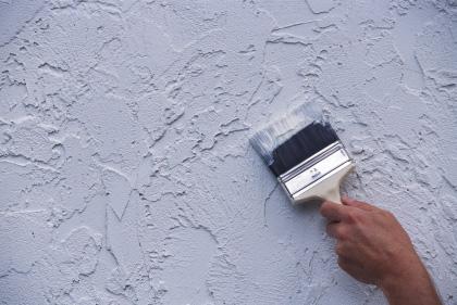 Нанесение текстурной краски
