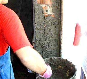 Нанесения цементной шпаклевки