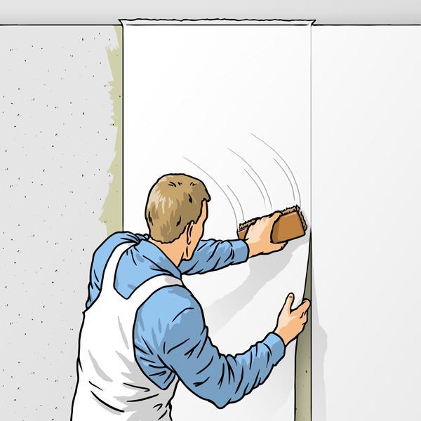 Наносите клей только на стену