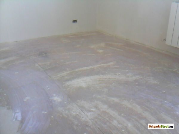 Напольная поверхность готовая к декоративной отделке