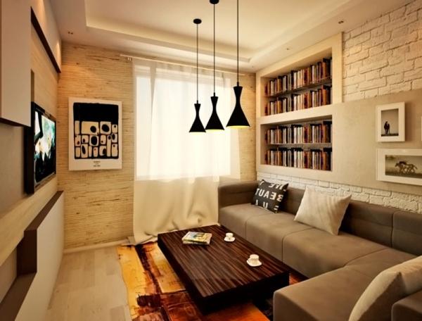 Нарочито неровная кирпичная стена – один из вариантов, но в виде небольшой дизайнерской вставки, не стоит этот элемент отделки стен делать доминирующим (фото «K»)