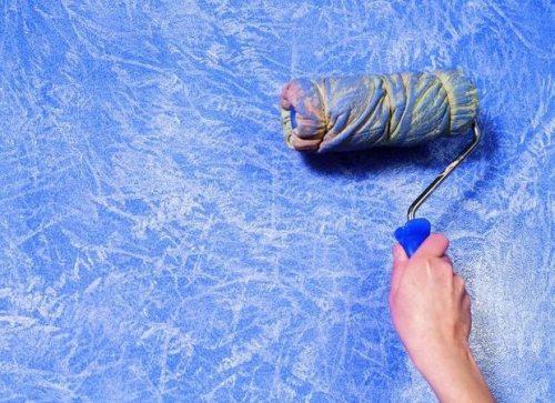Насадка на валик при покраске может быть какой угодно, здесь многое зависит от фантазии мастера