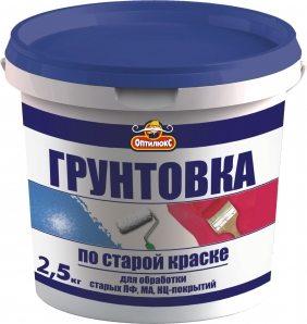 Недорогая отечественная грунтовка для масляной краски, эмалей ПФ и НЦ.