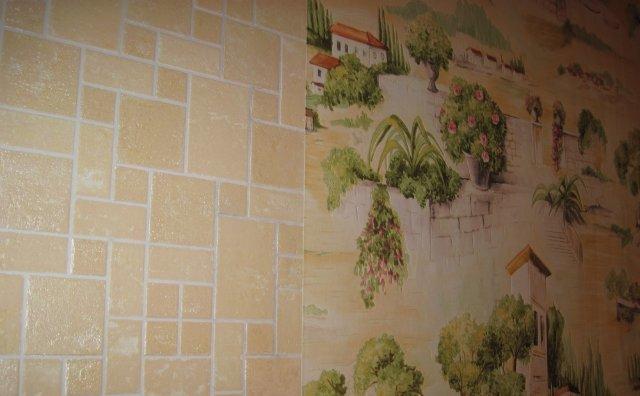 Некоторые мастера предпочитают, чтобы стены были своеобразным продолжением рисунка