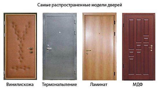 Некоторые варианты отделки дверей