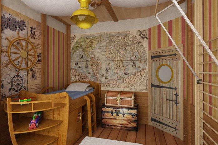 Некоторые варианты подобных обоев выглядят в виде карт или учебного пособия по мореходству
