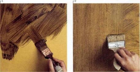 Некоторые виды подобных красителей создают имитацию других пород дерева, что делает поверхность на вид более дорогой, чем она есть на самом деле