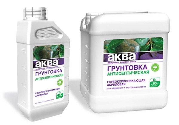 Нередко в продаже можно встретить акриловые проникающие грунты с антисептическими добавками.