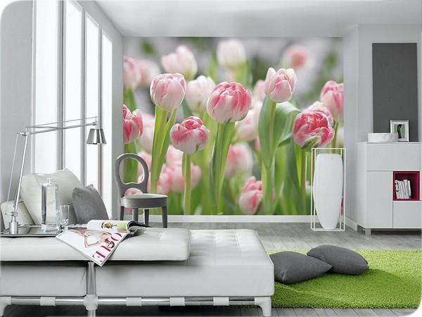 Объемное полотно на стене спальни