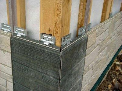Облицовка стен фиброцементными панелями