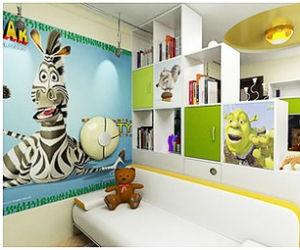 Обои с элементом зебрового узора – отличный вариант для детских комнат