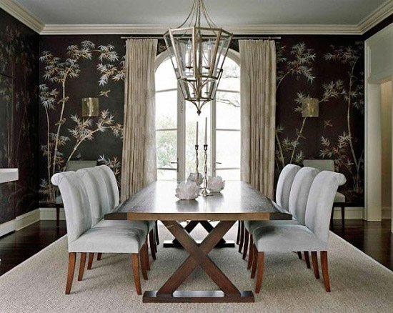 Обои с рисунком бамбука в интерьере создают отличное впечатление и задают настроение всей обстановке