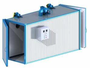 Оборудование порошковой покраски включает в себя и вспомогательные камеры предварительной подготовки исходных поверхностей для будущей обработки