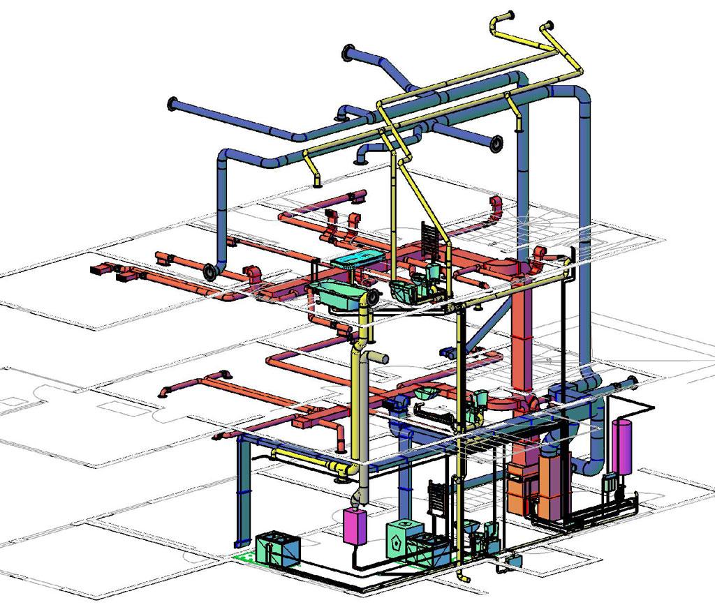 Образец проекта отопления и водоснабжения трёхэтажного дома