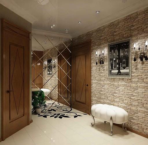 Образец сплошного покрытия стен.