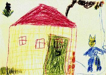 Обычно такие художества на стенах свойственны детским комнатам, а значит, стоит подумать заранее о защите от подобного творчества