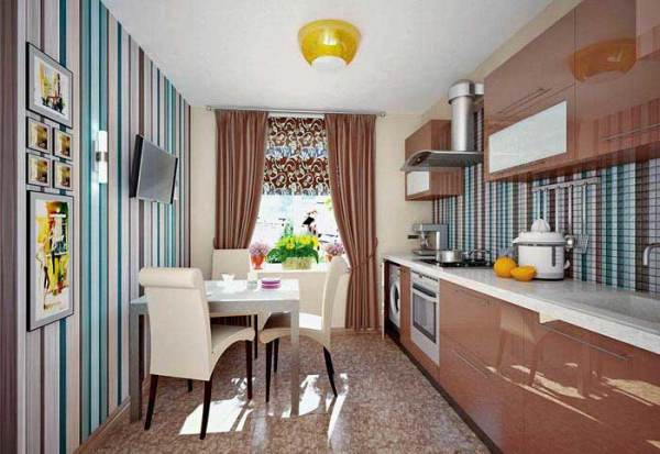 Очень важно, чтобы покрытие сочеталось с мебелью и материалами, которые используются для отделки рабочей стены помещения