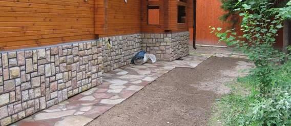Один из примеров отделки деревянного дома