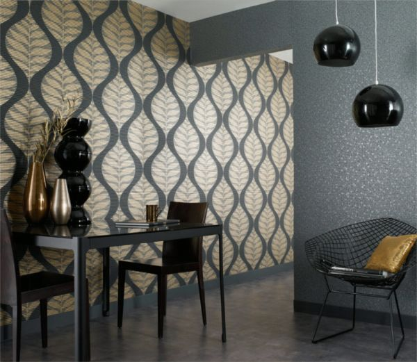 Однотонная мебель под определенный рисунок на стенах