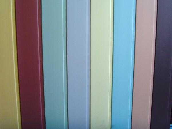 Огромная цветовая гамма панелей ПВХ.