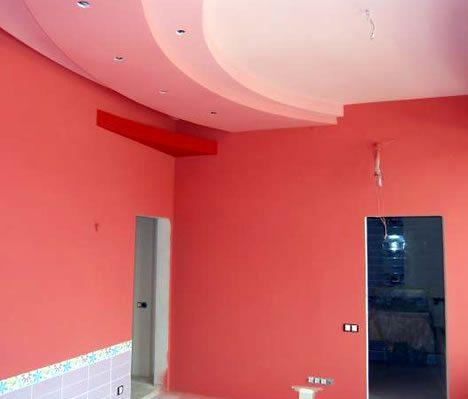 Окрашенные силиконовой краской стены