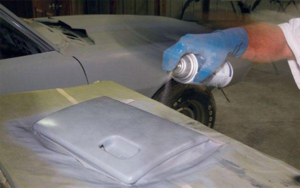 Окрашивание пластиковой крышки.