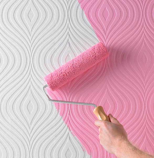 Окрашивание поверхности валиком