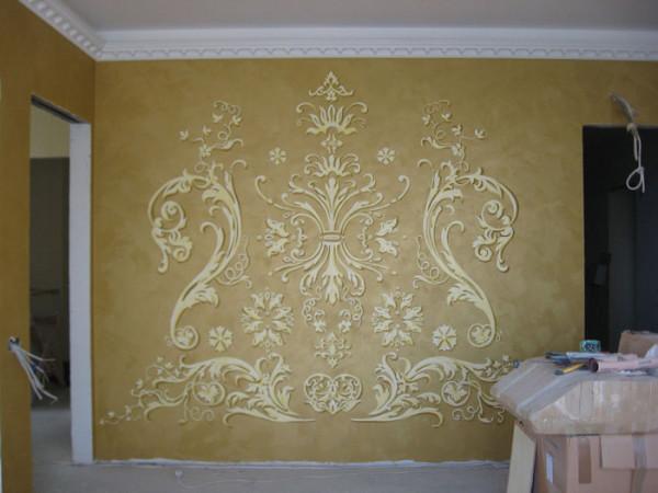 Оригинальный узор украсит вашу квартиру на рельефной стенке.