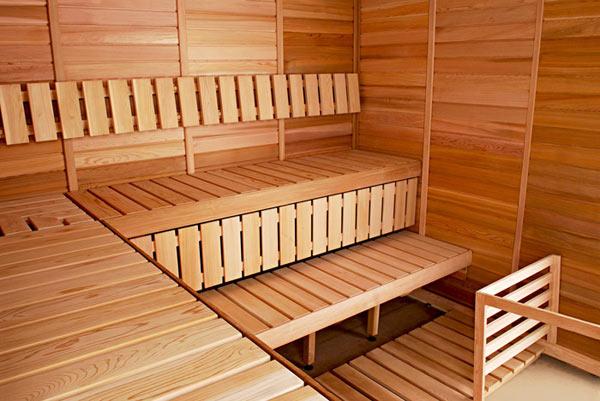 Осина в интерьере бани