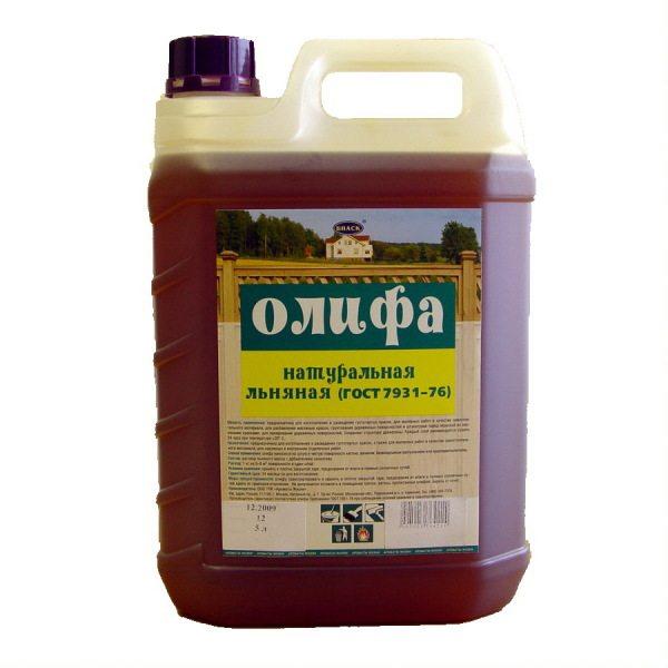 Основа натуральной олифы - растительное масло.