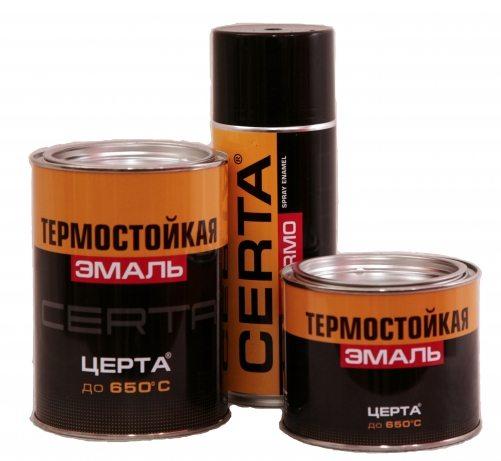 Особо термостойкие краски наносятся непосредственно на металлическое основание.
