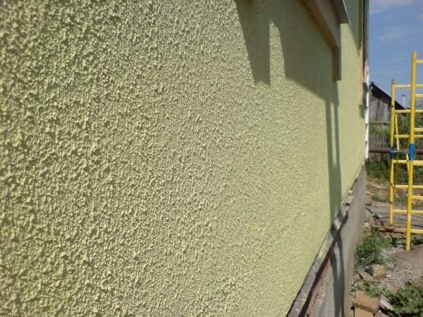 Отделка фасада под шубу цементной штукатуркой