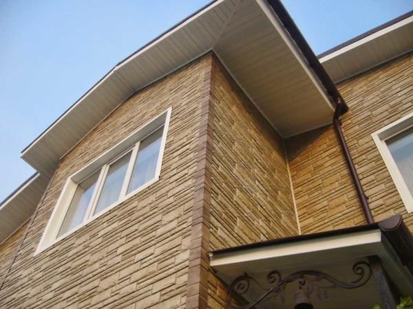 Отделка фасада цементным сайдингом