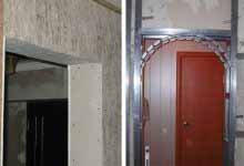 Отделка косяков межкомнатных дверей возможна даже с помощью вездесущего металлопрофиля