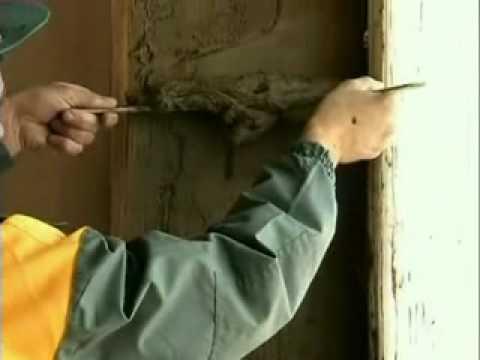 Отделка откосов на пластиковые окна - нанесение чистового слоя