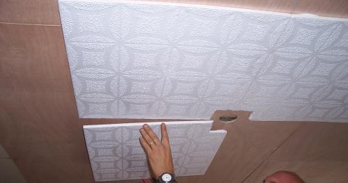 Отделка плитками полистирола