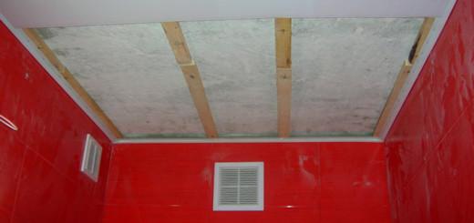 Отделка потолка по деревянной обрешетке