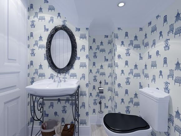 Отделка туалета обоями – быстрый и недорогой способ ремонта санузла.