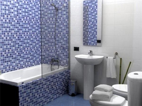 Отделка ванной комнаты мозаикой.
