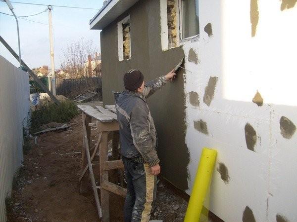 Отделка внешних стен по пенопласту