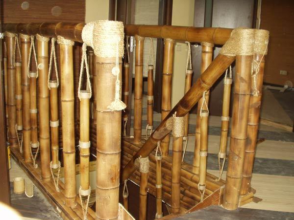 Отделочные материалы из бамбука. Лестничные перила
