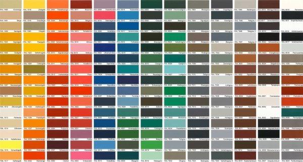 Палитра аэрозольных красок.