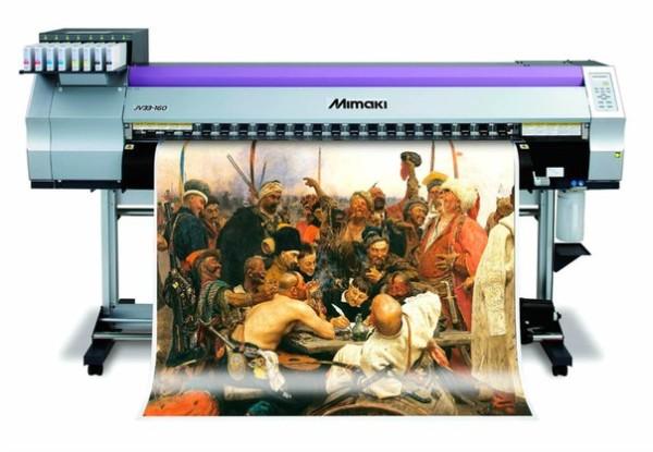 Печать изображения на виниловой поверхности.
