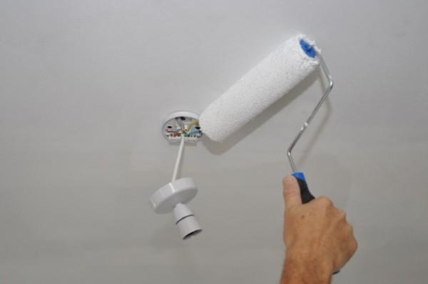 Перед началом работ осветительные приборы лучше всего снять