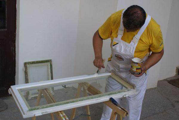 как удалить краску со стекла