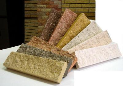 Плитка для наружной отделки под кирпич разных цветов