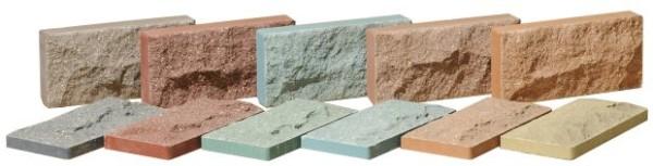 Плитка для цоколя может быть разной толщины и разных цветовых оттенков